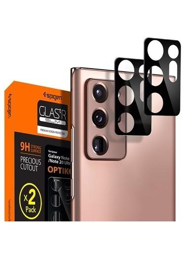 Spigen Galaxy Note 20 Kamera Lens Koruyucu, tR Optic Glass Black (2 Pack) Siyah